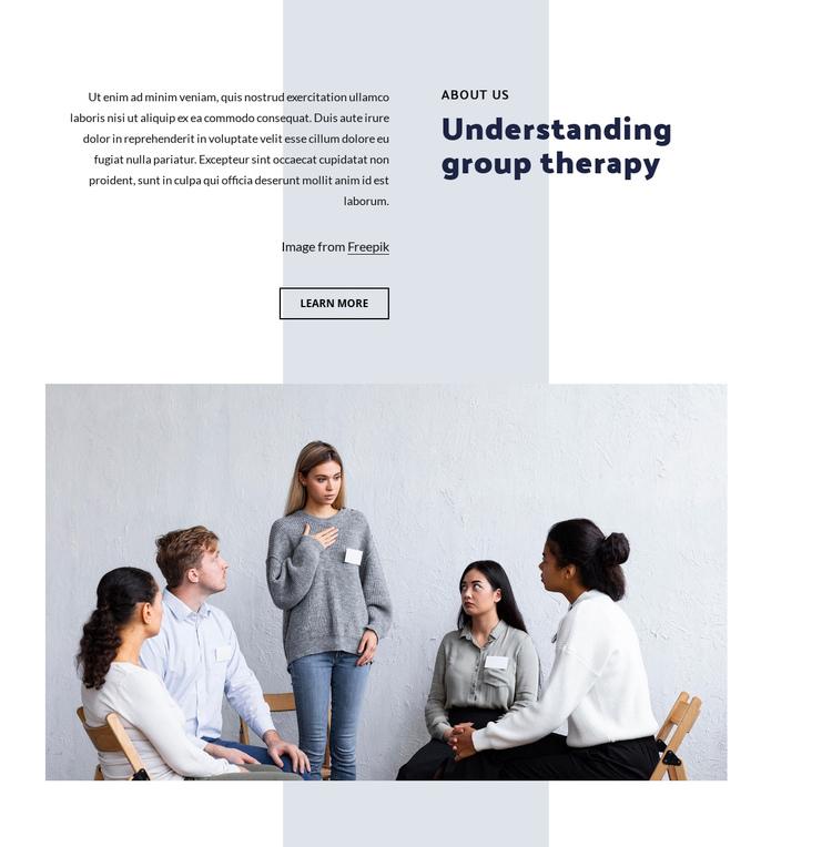 Understanding group therapy Website Builder Software