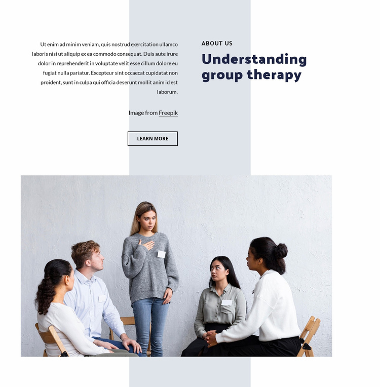 Understanding group therapy Website Template