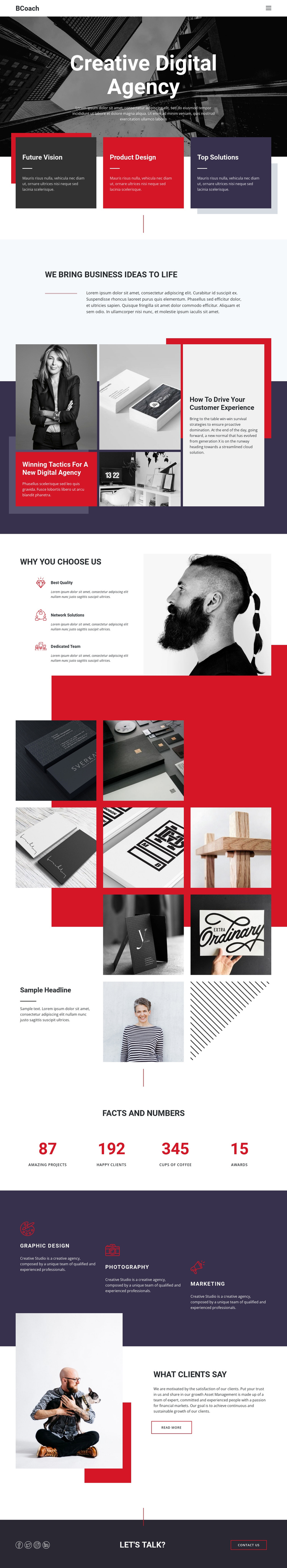Digital business agency One Page Template