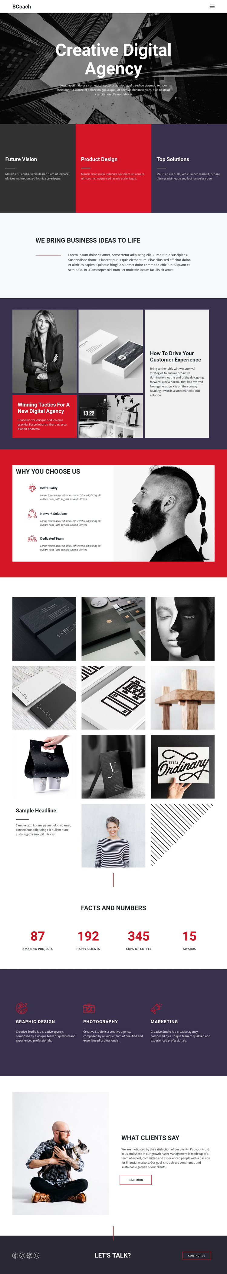 Digitize your products One Page Template