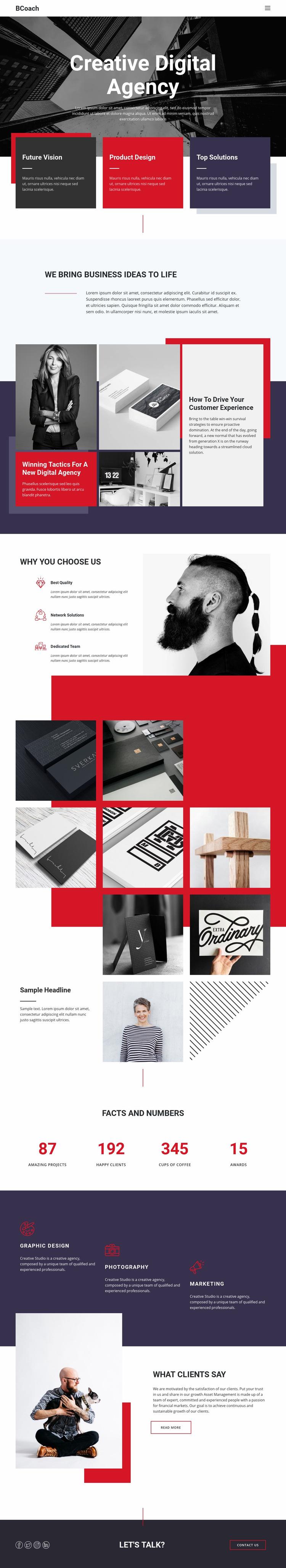 Digital business agency Web Page Design
