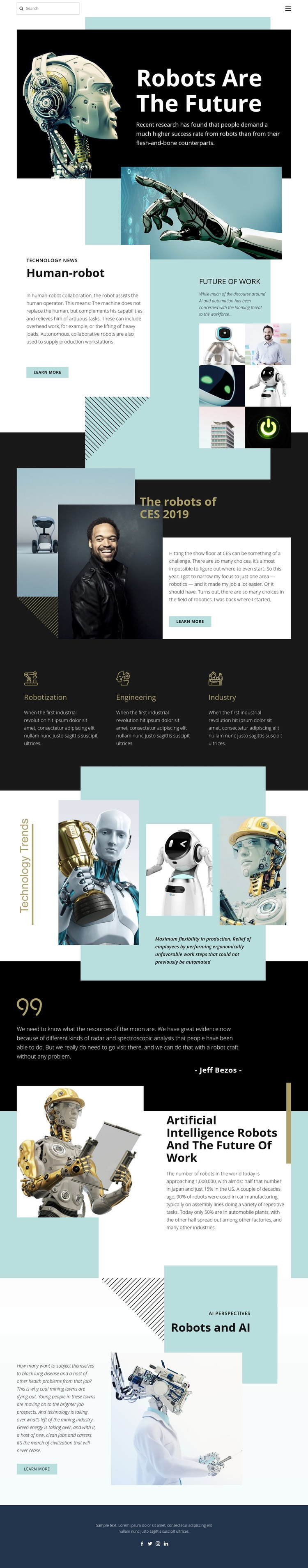 Robotic future technology Website Creator