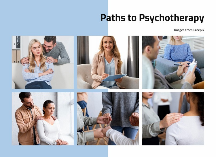 Path to psychotherapy Html Code Example