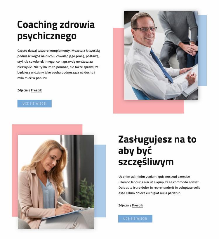 Coaching zdrowia psychicznego Szablon Joomla