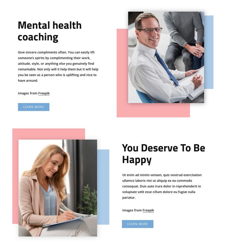 Mental health coaching Website Builder Software
