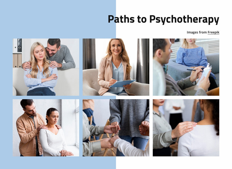 Path to psychotherapy Website Mockup