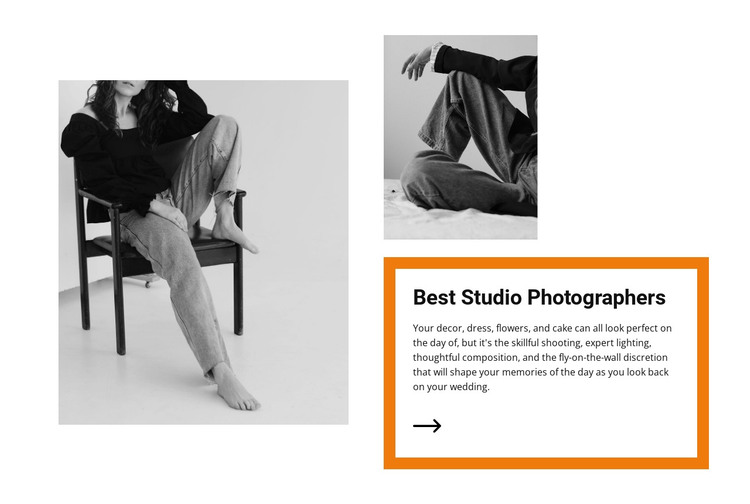 Studio light HTML Template