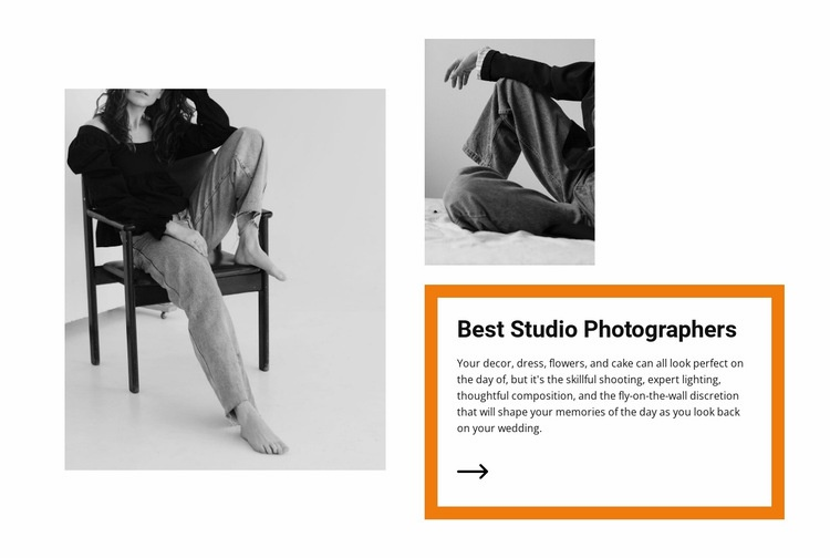 Studio light Web Page Design