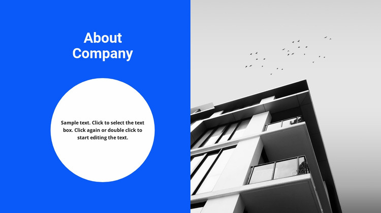Our office and thesis about us Website Mockup