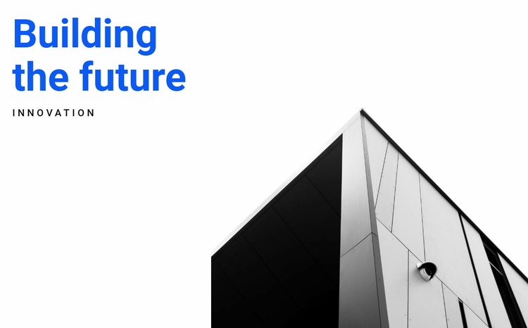 Graphic forms in architecture Website Template