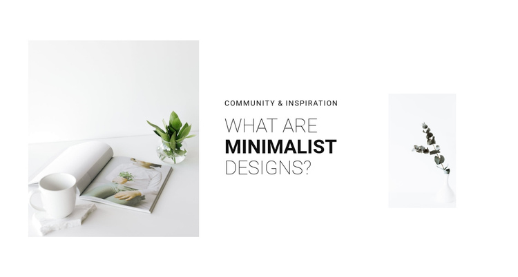 Minimalism in your interior Website Builder Software