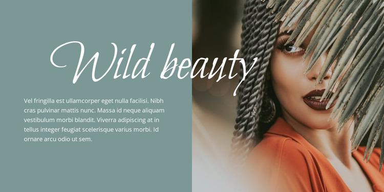 Wild beauty Website Mockup