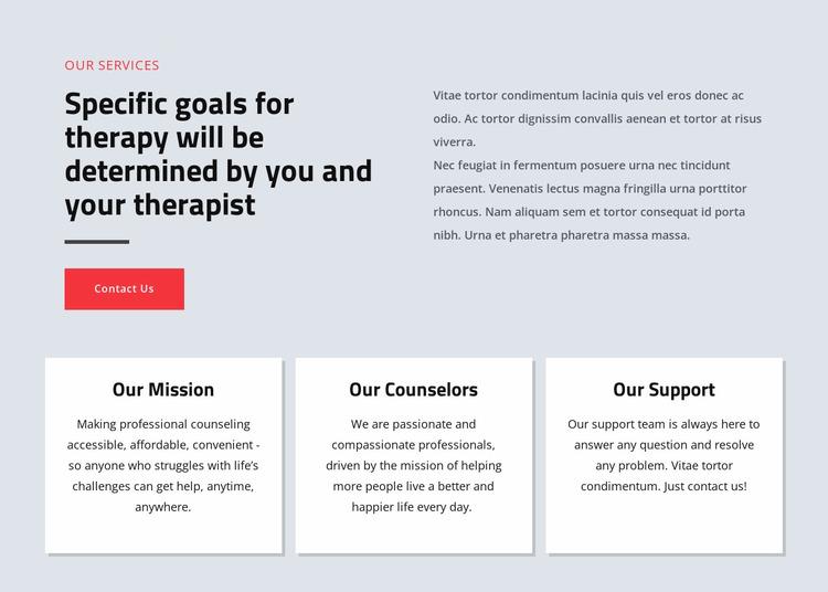 Psychologists help people live happier Website Mockup