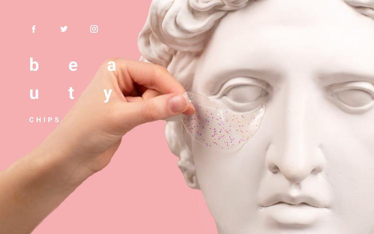 Beauty lessons Website Mockup