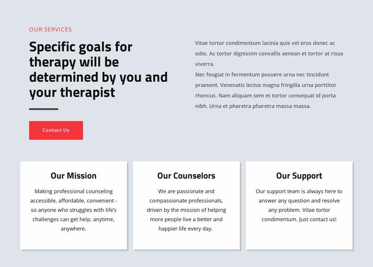 Psychologists help people live happier Website Template