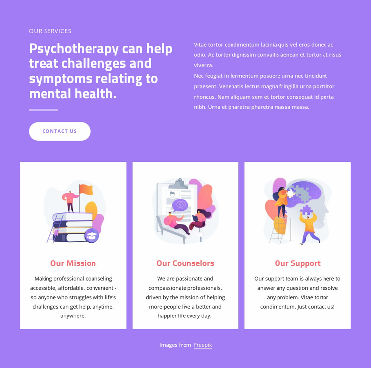 Counseling professionals Website Template
