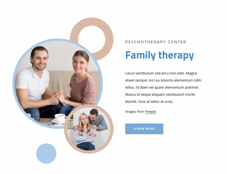 Marriage and family therapy Website Template