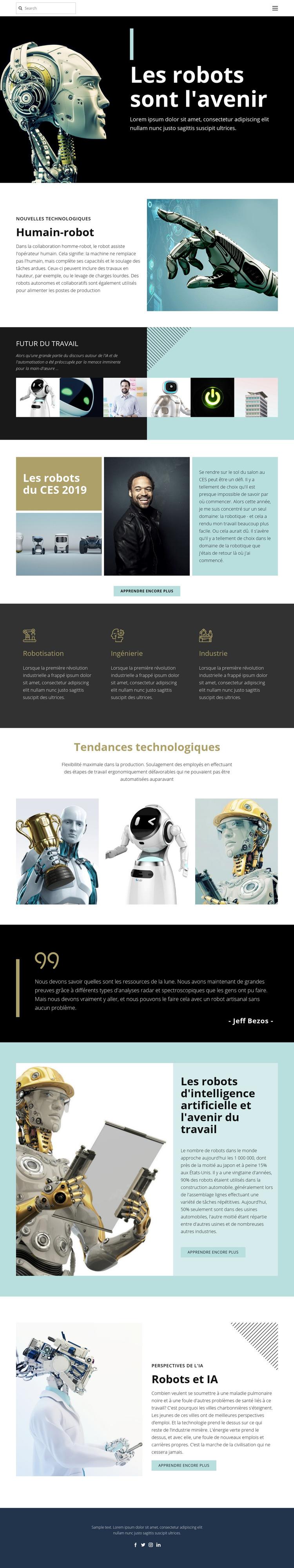 Technologie déjà future Modèle de site Web