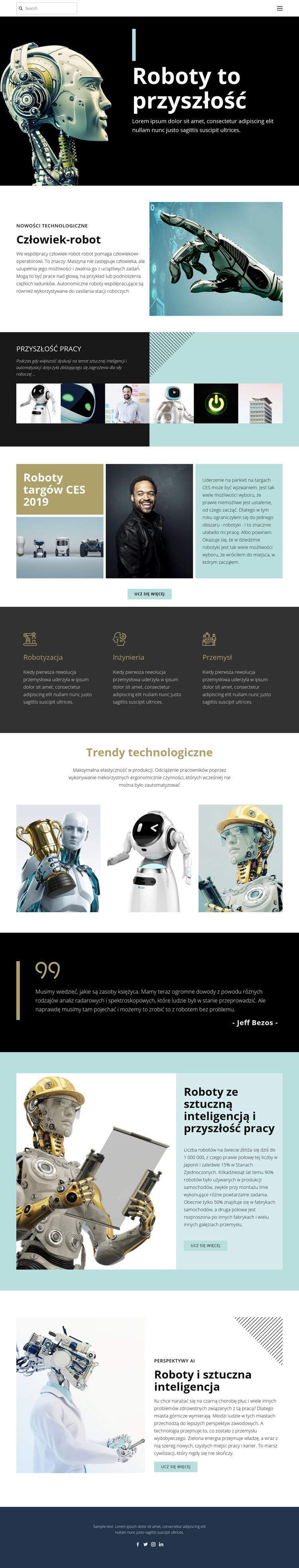 Już technologia przyszłości Szablon witryny sieci Web