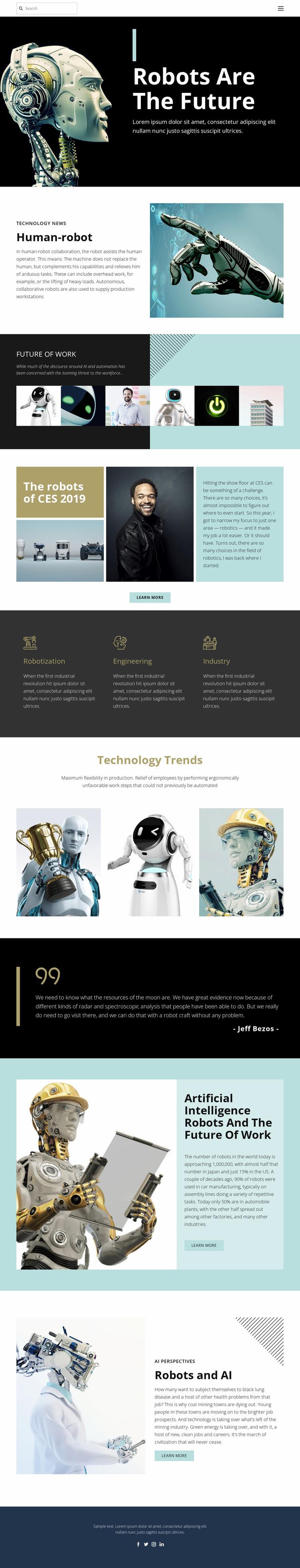Already future technology Website Mockup