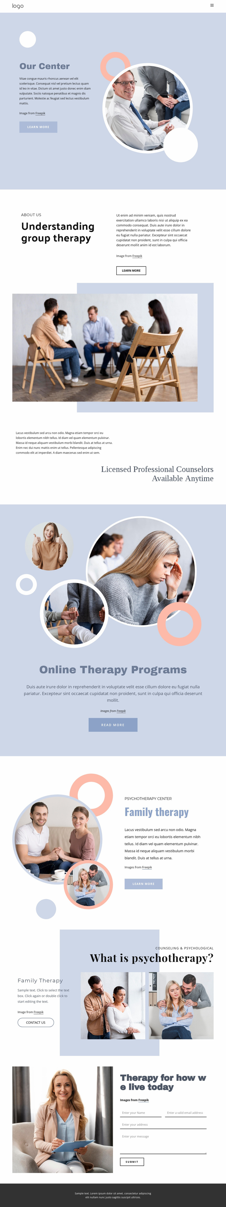 Licensed professional counselors Website Template