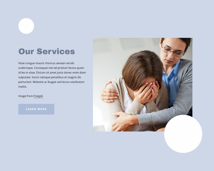 Diagnosing and treating mental disorders Website Template