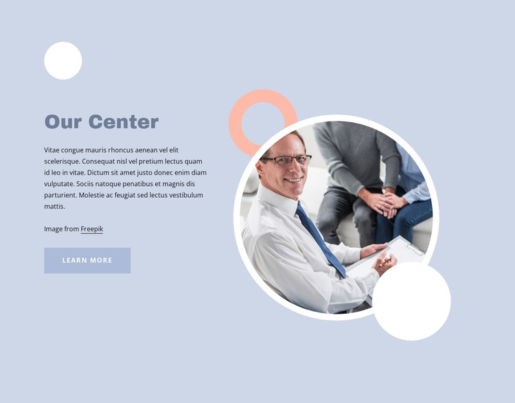 Therapy for how we live today HTML Template