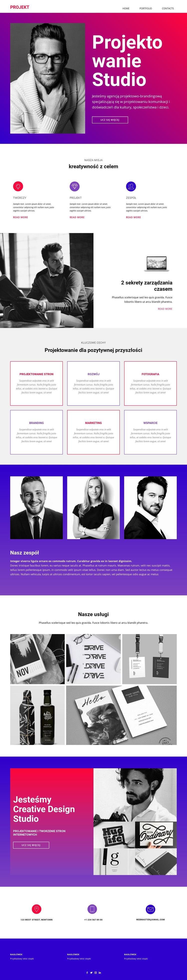 Sztuka projektowania pozytywnego myślenia Szablon witryny sieci Web