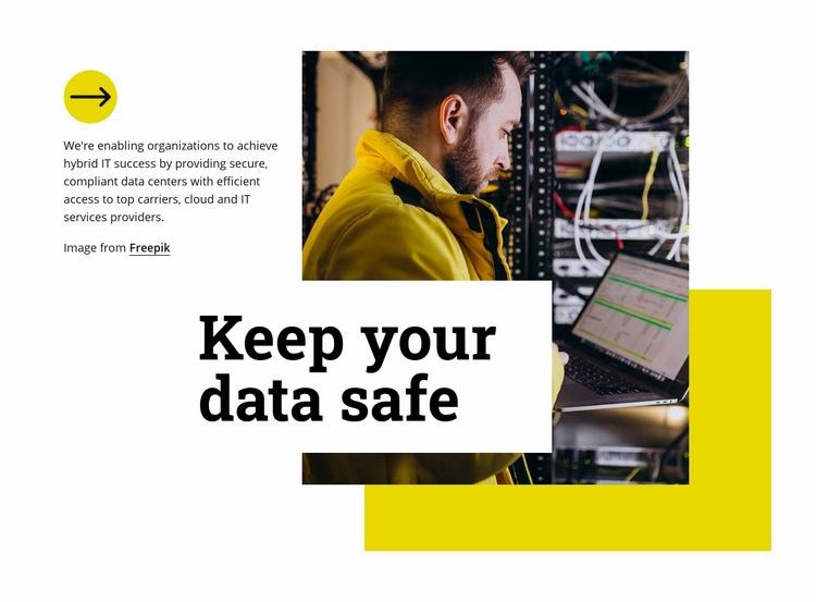 Keep your data safe Homepage Design