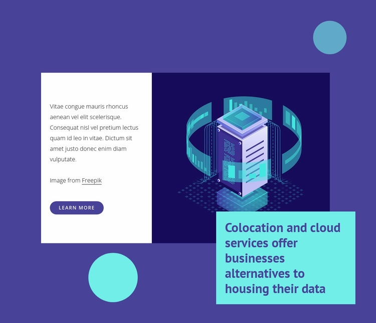 Data center switching Web Page Design