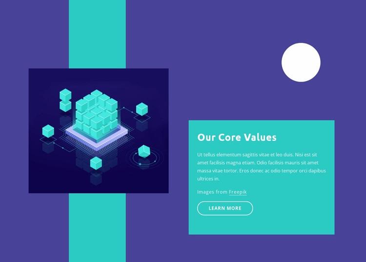 Our core values Web Page Design