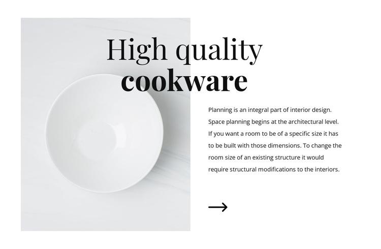 Beautiful dishes Joomla Page Builder