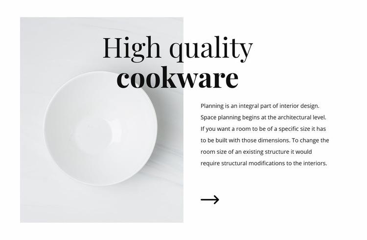 Beautiful dishes Web Page Designer