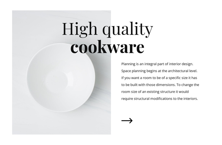 Beautiful dishes Website Builder Software