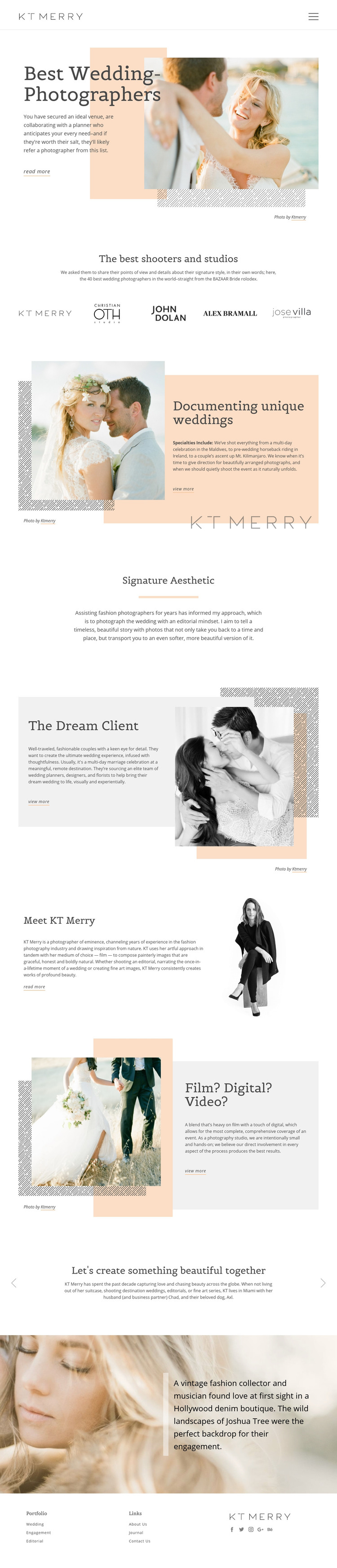 Wedding Photographers Homepage Design