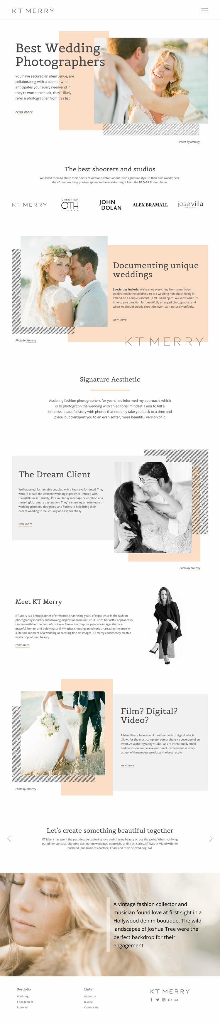 Wedding Photographers Website Mockup