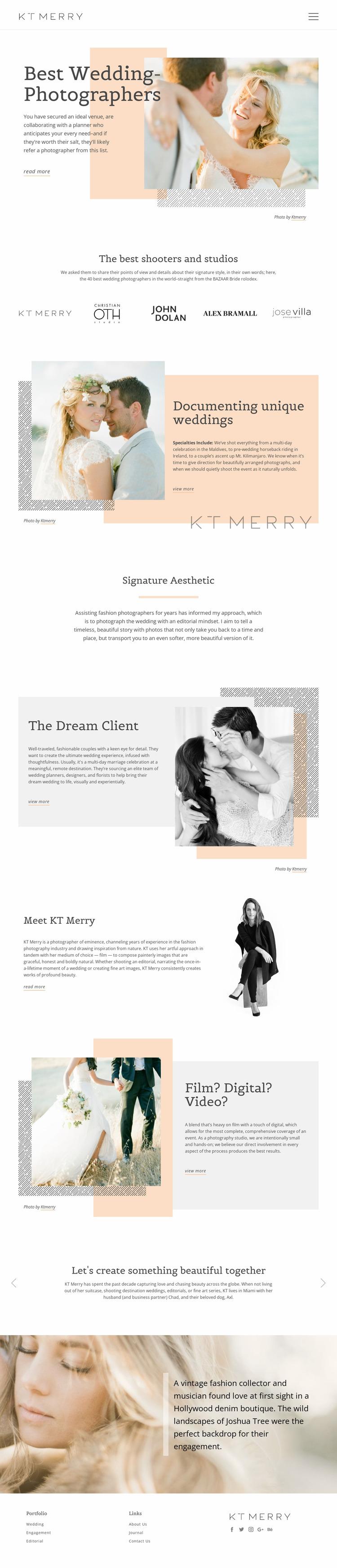 Wedding Photographers WordPress Website Builder