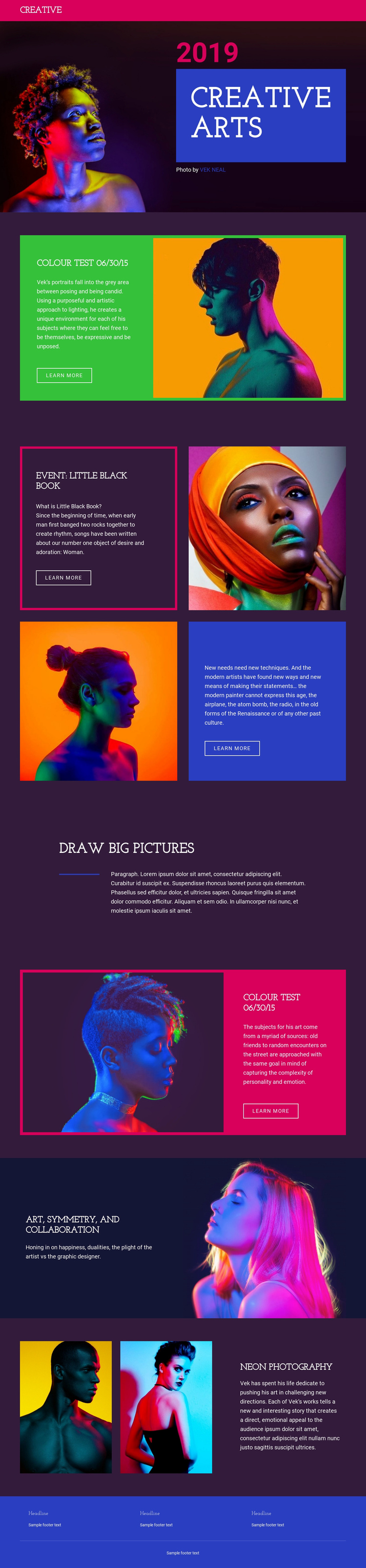 Limited-edition photography One Page Template