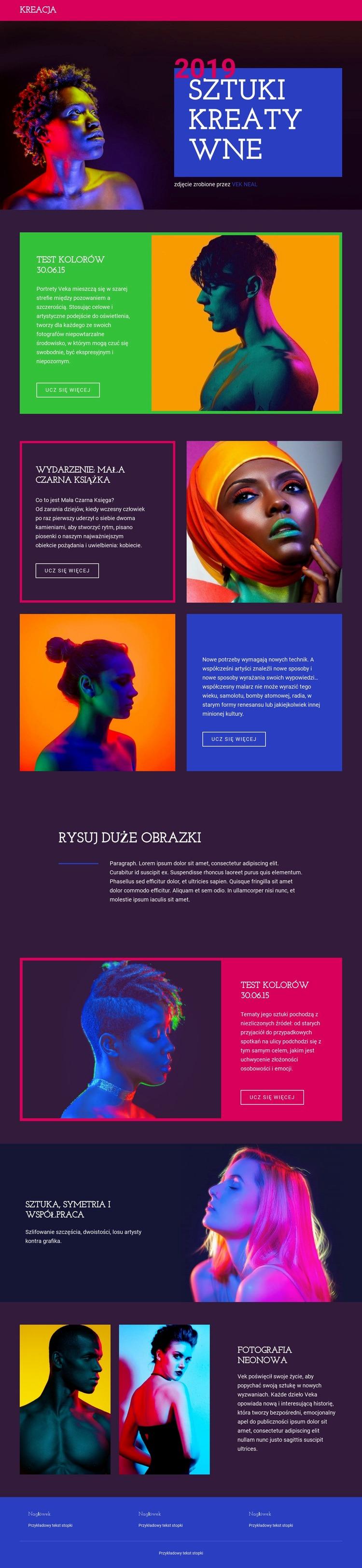Najdrobniejszy projekt i sztuka Szablon witryny sieci Web
