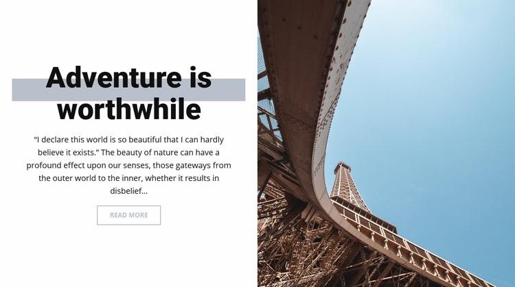 Adventure in Paris Html Code Example