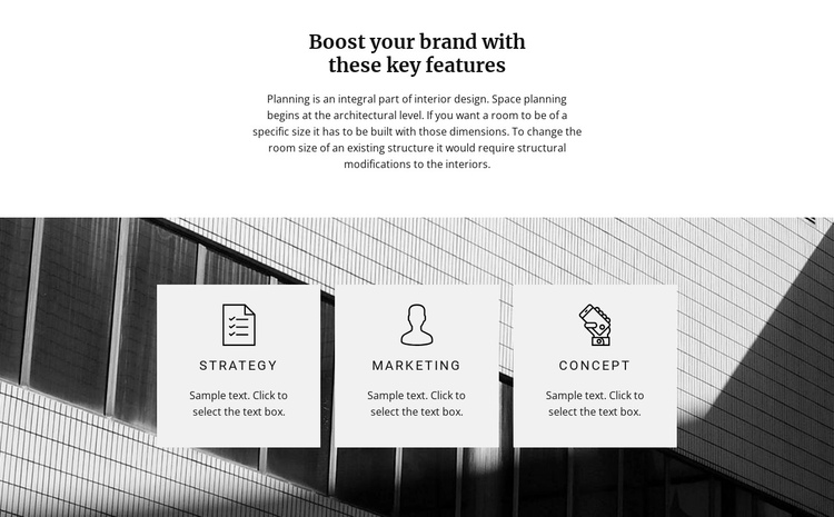 Three directions One Page Template