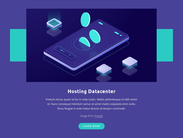 Hosting Datacenter One Page Template