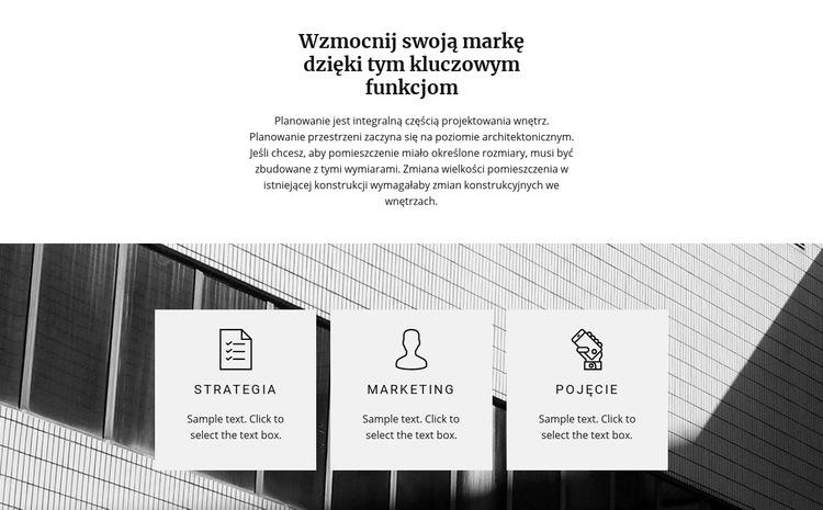 Trzy kierunki Szablon witryny sieci Web