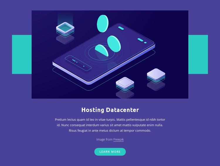 Hosting Datacenter Website Mockup