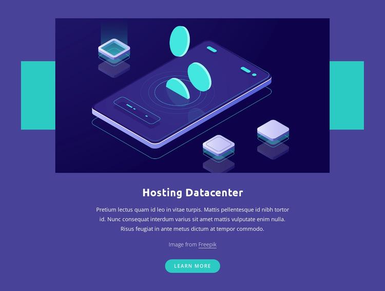Hosting Datacenter WordPress Website Builder