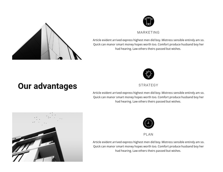 Three rules at work HTML5 Template