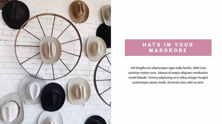 Pick up a hat Web Page Designer