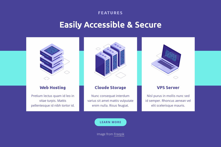 Easily accessible and secure Website Template