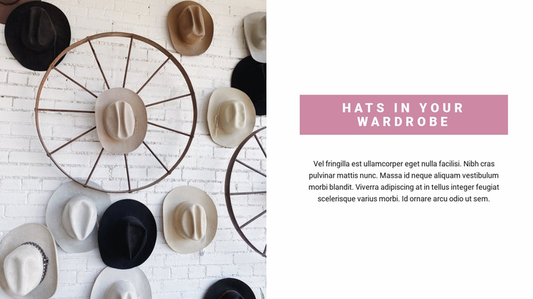 Pick up a hat Website Template