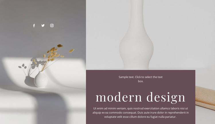 Handmade vases HTML Template